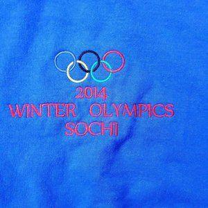 Gildan Mens Sz XL 2014 Winter Olympics Sochi Blue